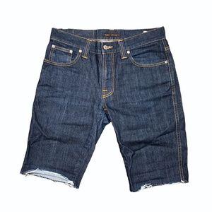 Nudie Slim Jim Cut Off Custom Denim Shorts Jeans 32x11